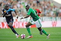 FOOTBALL - FRENCH CHAMPIONSHIP 2011/2012 - L1 - AS SAINT ETIENNE v AS NANCY LORRAINE - 13/08/2011 - PHOTO JEAN MARIE HERVIO / DPPI - BAKARY SAKO (ASSE)