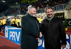 Mayor of Domzale Toni Dragar and Stane Orazem of NK Domzale during celebration of 90-years Anniversary of NK Domzale on October 15, 2011, in Stadium Sports park, Domzale, Slovenia.   (Photo by Vid Ponikvar / Sportida)