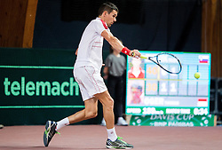 Thomas Oger of Monaco in action during Day 3 of the tennis matches between Slovenia and Monaco of 2017 Davis Cup Europe/Africa Zone Group II, on February 5, 2017 in Tennis Arena Tabor, Maribor Slovenia. Photo by Vid Ponikvar / Sportida
