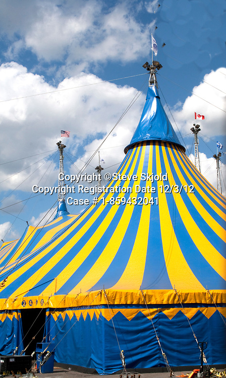 Cirque du Soleil circus tent, a mix of circus arts and street entertainment a Quebec based company. St Paul Minnesota MN USA