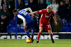 Hordur Magnusson of Bristol City tackles Grant Ward of Ipswich Town - Mandatory by-line: Robbie Stephenson/JMP - 30/12/2016 - FOOTBALL - Portman Road - Ipswich, England - Ipswich Town v Bristol City - Sky Bet Championship