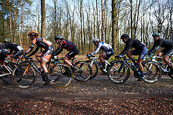 Lisa Klein (GER) and Lotta Lepistö (FIN) across the Exloo cobbles at Ronde van Drenthe 2019, a 165.7 km road race from Zuidwolde to Hoogeveen, Netherlands on March 17, 2019. Photo by Sean Robinson/velofocus.com
