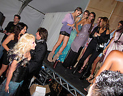 Richie Sambora and Nikki Lund with Models backstage..Los Angeles Fashion Week Spring/Summer 2011- WTB Collection..White Trash Beautiful Fashion Show by Richie Sambora and Nikki Lund.