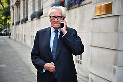 © Licensed to London News Pictures. 10/09/2019. London, UK. LORD MICHAEL HESTLETINE is seen in Westminster, London. British Prime Minister Boris Johnson Last night prorogued Parliament in the run up to Britain's planned Brexit deadline of October 31st. Photo credit: Ben Cawthra/LNP