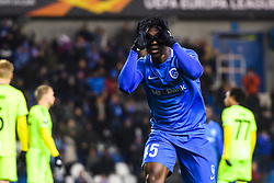 December 13, 2018 - Genk, BELGIUM - 181213 Joseph Aidoo of Genk celebrates after 4-0 during the Europa League group stage match between Genk and Sarpsborg 08 on December 13, 2018 in Genk. .Photo: Fredrik Varfjell / BILDBYRN / kod FV / 150187. (Credit Image: © Fredrik Varfjell/Bildbyran via ZUMA Press)