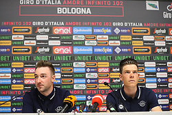 Foto Filippo Rubin/LaPresse <br /> 09 maggio 2019 Bologna (Italia)<br /> Sport Ciclismo<br /> Giro d'Italia 2019 - edizione 102 - Conferenza Stampa Team.<br /> Nella foto: Deceuninck - Quick-Step.VIVIANI Elia, JUNGELS Bob<br /> <br /> Photo Filippo Rubin/LaPresse<br /> May 09, 2019  Bologna (Italy)  <br /> Sport Cycling<br /> Giro d'Italia 2019 - 102th edition - Team Press Conference .<br /> In the pic: Deceuninck - Quick-Step.VIVIANI Elia, JUNGELS Bob