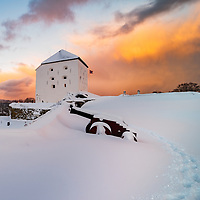 www.aziznasutiphotography.com                                   This picture has been taken after several days of snow in Trondheim. The sun just came for some minutes and then start snowing again.