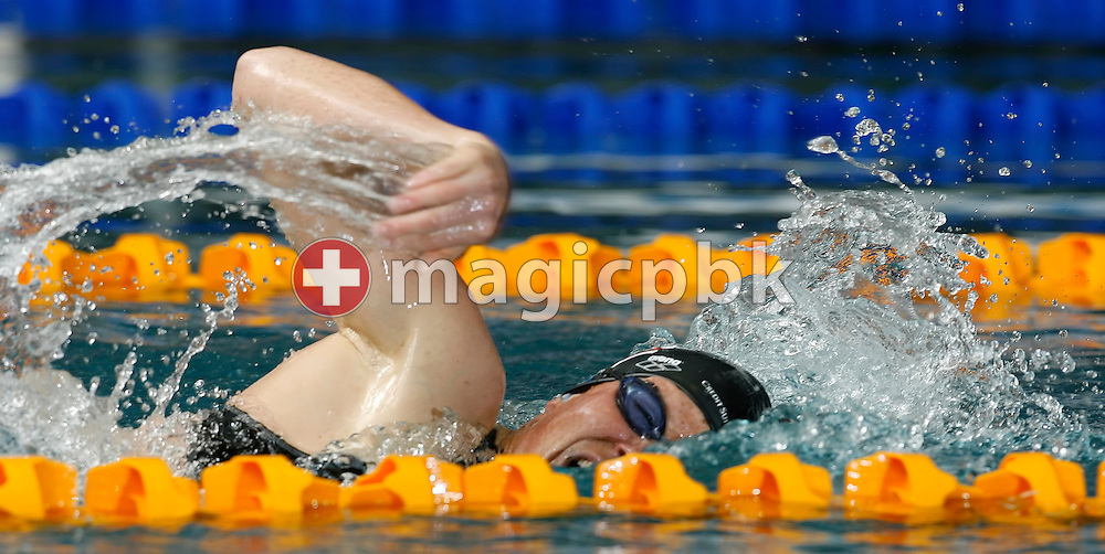 The blind swimmer Chantal Cavin of competes in the women's 200m freestyle heats in the Hallenbad Oerlikon at the Swimming Swiss Championships in Zurich, Switzerland, Friday 11 May 2007. (Photo by Patrick B. Kraemer / MAGICPBK)