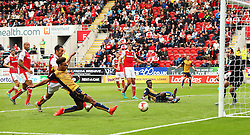 Bobby Reid of Bristol City scores his sides second goal for 2-2 - Mandatory by-line: Matt McNulty/JMP - 10/09/2016 - FOOTBALL - Aesseal New York Stadium - Rotherham, England - Rotherham United v Bristol City - Sky Bet Championship