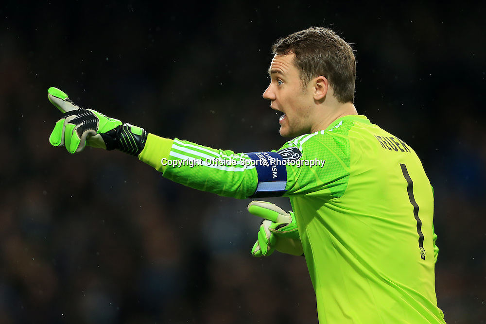 25th November 2014 - UEFA Champions League - Group E - Manchester City v Bayern Munich - Bayern goalkeeper Manuel Neuer - Photo: Simon Stacpoole / Offside.