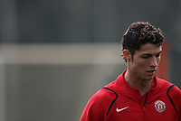 Photo: Paul Thomas.<br /> Manchester United training session. UEFA Champions League. 16/10/2006.<br /> <br /> Cristiano Ronaldo.