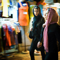 Young women shopping in Isphahan.