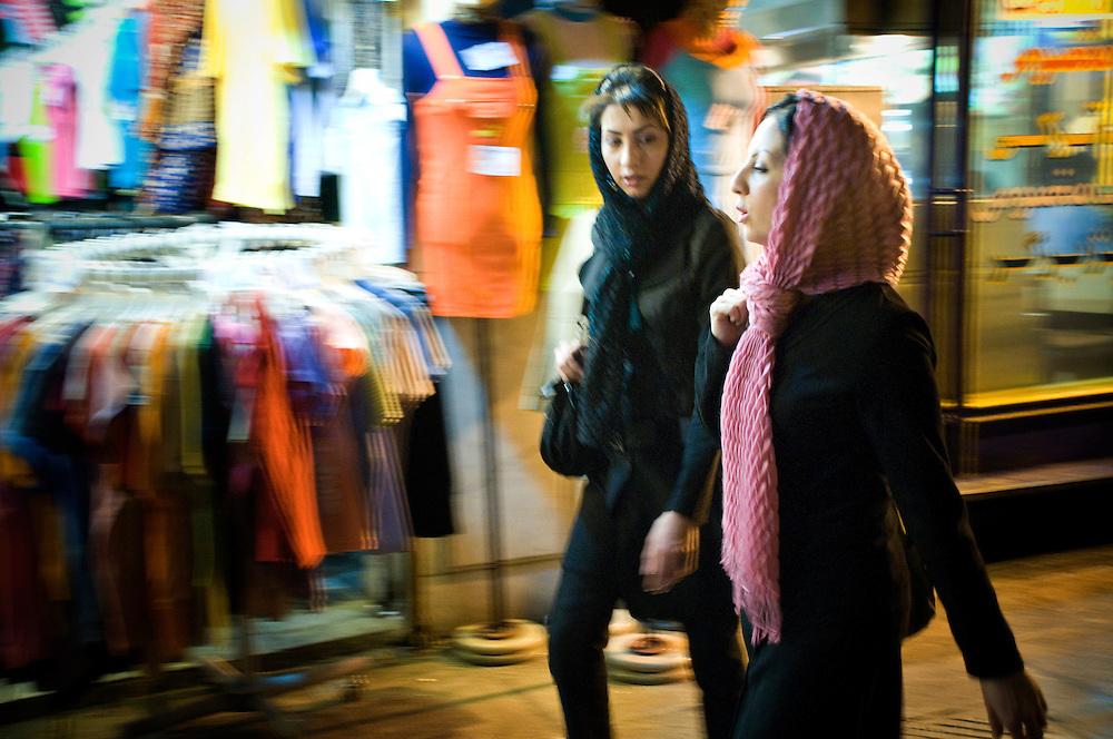 Young women shopping in Isphahan.