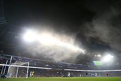 16th December 2017 - Premier League - Manchester City v Tottenham Hotspur - A general view (GV) as fog descends on the Etihad Stadium - Photo: Simon Stacpoole / Offside.