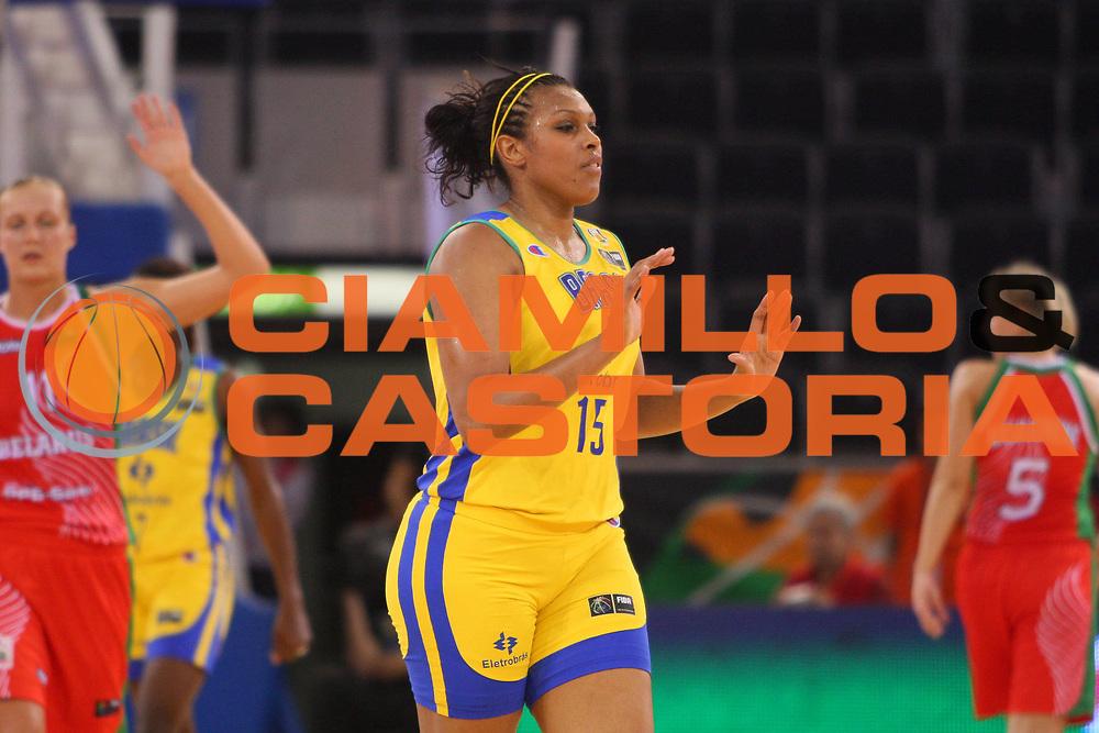DESCRIZIONE : Madrid 2008 Fiba Olympic Qualifying Tournament For Women Quarter Finals Brazil Belarus <br /> GIOCATORE : Kelly da Silva Santos <br /> SQUADRA : Brazil Brasile <br /> EVENTO : 2008 Fiba Olympic Qualifying Tournament For Women <br /> GARA : Brazil Belarus Brasile Bielorussia <br /> DATA : 13/06/2008 <br /> CATEGORIA : Esultanza <br /> SPORT : Pallacanestro <br /> AUTORE : Agenzia Ciamillo-Castoria/S.Silvestri <br /> Galleria : 2008 Fiba Olympic Qualifying Tournament For Women<br /> Fotonotizia : Madrid 2008 Fiba Olympic Qualifying Tournament For Women Quater Finals Brazil Belarus <br /> Predefinita :