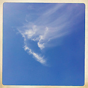 Cirrus clouds in a blue sky