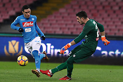 December 19, 2017 - Naples, Italy - JOSE' CALLEJON (SSC Napoli) and LUIGI SEPE (SSC Napoli)..during the TIM Cup match between SSC Napoli and Udinese Calcio at Stadio San Paolo on December 19, 2017 in Naples, Italy. (Credit Image: © Paolo Manzo/NurPhoto via ZUMA Press)