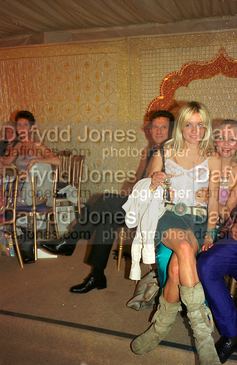 SIENNA MILLER; HANNAH SANDLING, Indian Palace Ball, St. James Sq. 8 July 2002.<br /> <br /> SUPPLIED FOR ONE-TIME USE ONLY> DO NOT ARCHIVE. © Copyright Photograph by Dafydd Jones 248 Clapham Rd.  London SW90PZ Tel 020 7820 0771 www.dafjones.com