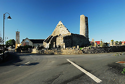 The village of Aghagower in Co Mayo, with the Abbey and Round Tower in the foreground...Pic Conor McKeown