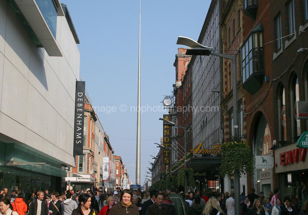 Shoppers in Henry Street Dublin Ireland