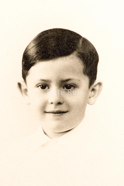 classic studio portrait of a young boy