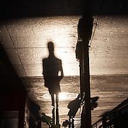 New York Manhattan, shadows of pedestrians on 57 street 57th street  / ombres des pietons sur la 57em rue