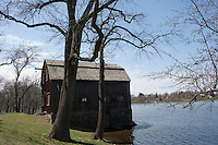 Spring High Water, Wethersfield Cove on Connecticut River, Wethersfield, CT.