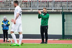 Almir Sulejmanović, head coach of Rudar during Football match between NK Triglav and NK Rudar in 27th Round of Prva liga Telekom Slovenije 2018/19, on April 13, 2019, in Sports centre Kranj, Slovenia. Photo by Vid Ponikvar / Sportida