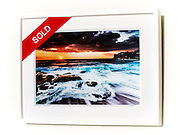 Seaswept, Bronte &ndash; Ex exhibition work. One only available. 12x18&rdquo; signed print on Fujicolor Pearl metallic paper. Mounted on 2mm aluminium composite. White box frame with white mattboard, UV acrylic &amp; D-ring hangers. Outside frame dimensions 470 x 625 x 38mm. Clearance price $195 incl GST &amp; free delivery in Sydney metro area only. <br /> <br /> Inspection can be arranged before purchase in Sydney metro area.<br /> <br /> Order by email to orders@GirtBySeaPhotography.com