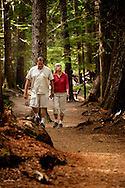 Ross Creek Cedars Scenic Area, Montana, Western Red Cedars, tourists, couples, hike