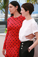 Monica Bellucci and Alba Rohrwacher at the photo call for the film The Wonders (Le Meraviglie) at the 67th Cannes Film Festival, Sunday 18th May 2014, Cannes, France.