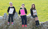 Clodagh Leich, Amy Naughton and Tara Forde, pupils from Northampton National school  Co. Galway  whom will be presented with medals for their prize-winning original story at this year&rsquo;s Write a Book / Scr&iacute;obh Leabhair competition, run by Galway Education Centre, in the Radisson Hotel on Thursday 30th April. <br />  Photo: Andrews Downes XPOSURE