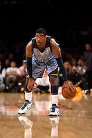 06 November 2009: Guard OJ Mayo of the Memphis Grizzles against the Los Angeles Lakers during the first half of the Lakers 114-98 victory over the Grizzles at the STAPLES Center in Los Angeles, CA.