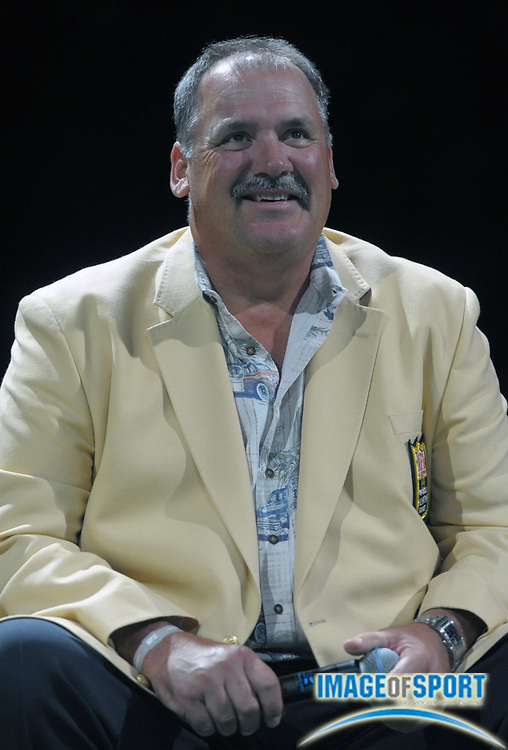 Aug 8, 2010; Canton, OH, USA; Russ Grimm at the 2010 Pro Football Hall of Fame Enshrinees Gameday Roundtable at the Canton Civic Center.  Photo by Image of Sport