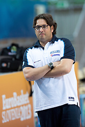 Andrea Trinchieri, head coach of Greece, at practice session of team Greece 1 day before the beginning of Eurobasket 2013 on September 3, 2013 in Arena Bonifika, Koper, Slovenia. (Photo by Matic Klansek Velej / Sportida.com)