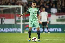 September 3, 2017 - Budapest, Hungary - Pepe of Portugal with the ball during the FIFA World Cup 2018 Qualifying Round match between Hungary and Portugal at Groupama Arena in Budapest, Hungary on September 3, 2017  (Credit Image: © Andrew Surma/NurPhoto via ZUMA Press)