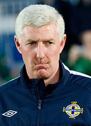 Head coach of Northern Ireland Nigel Worthington during EURO 2012 Qualifications game between National teams of Slovenia and Northern Ireland, on March 29, 2011, in Windsor Park Stadium, Belfast, Northern Ireland, United Kingdom. (Photo by Vid Ponikvar / Sportida)