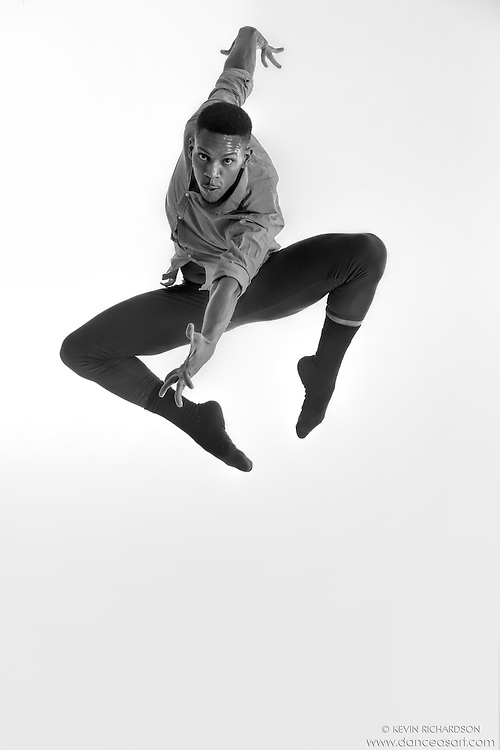 Black and white dance photography- Spiderman- featuring Dance As Art dancer Jarrett Rashad
