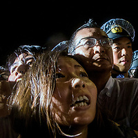 16/09/2015 21:55:40, tokyo, students   from Zengakuren union protest front of diet against bill which permit allow  troops fighting abroad ,  police use a Kettling technic and some of participant were arrested .Pierre Boutier