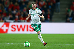 November 12, 2017 - Basel, Switzerland - Chris Brunt of Northern Ireland  during the FIFA 2018 World Cup Qualifier Play-Off: Second Leg between Switzerland and Northern Ireland at St. Jakob-Park on November 12, 2017 in Basel, Basel-Stadt. (Credit Image: © Matteo Ciambelli/NurPhoto via ZUMA Press)