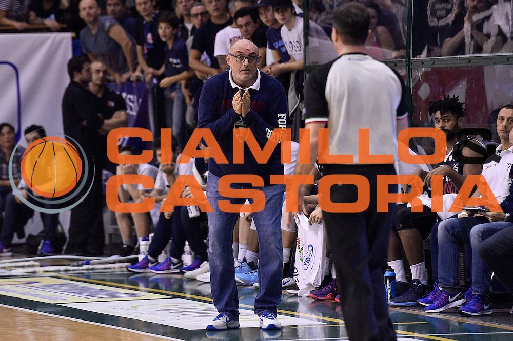 Matteo Boniciolli<br /> Bondi Pallacanestro Ferrara - Fortitudo Kontatto Bologna<br /> Campionato Basket A2 LNP 2016/2017<br /> Ferrara, 25/11/2016<br /> Foto Ciamillo-Castoria