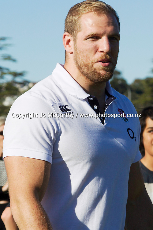 England flanker James Haskell. England Rugby Squad Training Session. Western Springs, Auckland, New Zealand, Saturday 31 May 2014. Photo: Jo McCarthy / www.photosport.co.nz