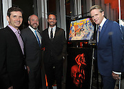 """Chuck Rose, creator, writer, executive producer; Brendan Kelly, executive producer; Eric Berger, EVP, Digital Networks, Sony Pictures Television and General Manager, Crackle; and actor Cary Elwes, left to right, attend Crackle's """"The Art of More"""" season two premiere, Tuesday, Nov. 15, 2016, at the Museum of Arts and Design in New York. Sony's streaming network, Crackle, will launch season two of its first original scripted drama, """"The Art of More,"""" on November 16th.  (Photo by Diane Bondareff/Invision for Crackle/AP Images)"""