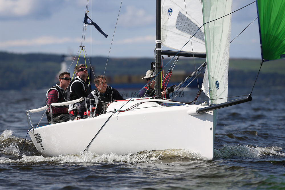 Peelport Clydeport, Largs Regatta Week 2014 Largs Sailing Club based at  Largs Yacht Haven.<br /> <br /> GBR117, Mojo, J70, Donald Syme, FYC
