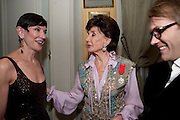 AMY FINE COLLINS; JACQUELINE DE RIBES;, Dinner for Jacqueline de Ribes after Legion d'honneur award. 50 Rue de la Bienfaisance. Paris.