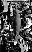 Boot Stall, Petticoat Lane, London, UK, 1980s.