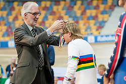 Brian Cookson, POWELL Susan, UCI, AUS, Pursuit Finals , 2015 UCI Para-Cycling Track World Championships, Apeldoorn, Netherlands
