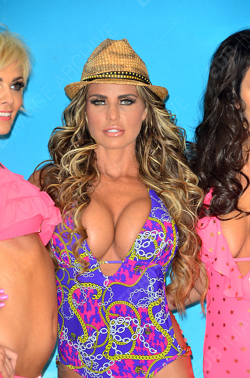 07.MARCH.2012. LONDON<br /> <br /> KATIE PRICE PHOTOCALL TO PROMOTE THE LAUNCH OF HER NEW RANGE OF SWIMWEAR. HELD AT THE WORX, LONDON, ON WEDNESDAY MARCH 07, 2012.<br /> <br /> BYLINE: EDBIMAGEARCHIVE.COM<br /> <br /> *THIS IMAGE IS STRICTLY FOR UK NEWSPAPERS AND MAGAZINES ONLY*<br /> *FOR WORLD WIDE SALES AND WEB USE PLEASE CONTACT EDBIMAGEARCHIVE - 0208 954 5968*