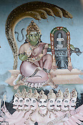 Mural on wall of small Hindu Temple in Pettah.