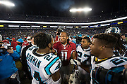 January 24, 2016: Carolina Panthers vs Arizona Cardinals. Josh Norman, Larry Fitzgerald